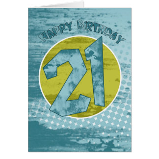 21ro Tarjeta de cumpleaños - tarjeta de cumpleaños