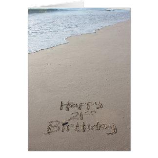 21ro Tarjeta de la playa del cumpleaños