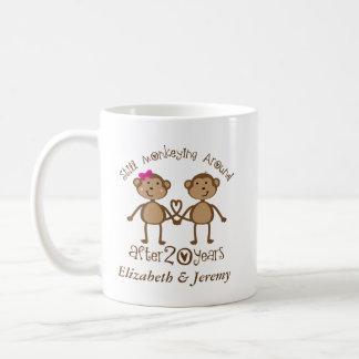 220o aniversario de boda divertido su que el suyo taza de café