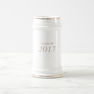 """22 onzas. """"CLASE de 2017"""" graduados/graduaciones Jarra De Cerveza"""