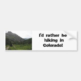 ¡233, estaría caminando bastante en Colorado! Pegatina Para Coche