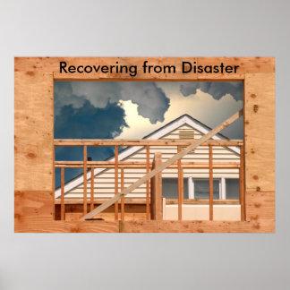 236 una construcción que reconstruye, Recoveri de  Póster