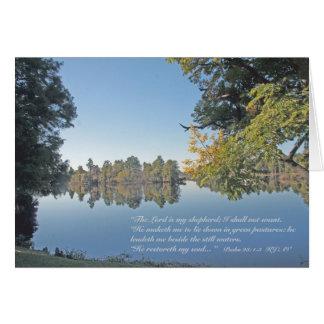 23:1 del salmo - tarjeta de 3 escrituras