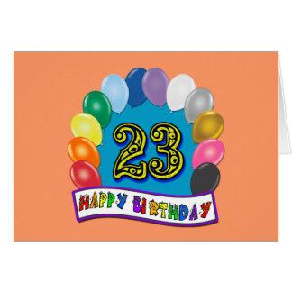 23ro Regalos de cumpleaños con diseño clasificado Tarjeton