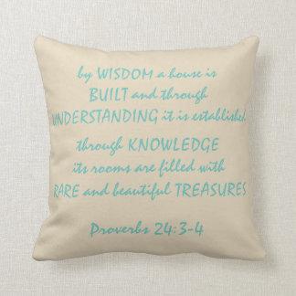 24:3 de los proverbios - almohada de tiro del