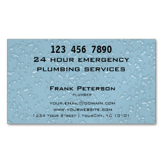 24 fontaneros de la emergencia de la hora tarjetas de visita magnéticas (paquete de 25)