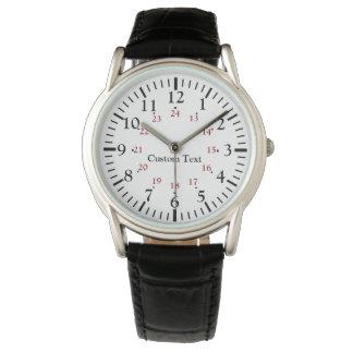 24 relojes personalizados tiempo militar de la