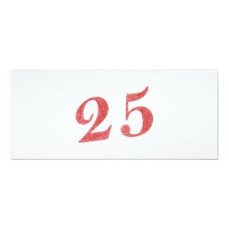 25 años de aniversario invitación 10,1 x 23,5 cm
