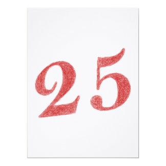 25 años de aniversario invitación 16,5 x 22,2 cm