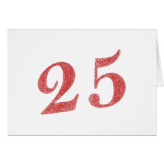 25 años de aniversario tarjeta de felicitación