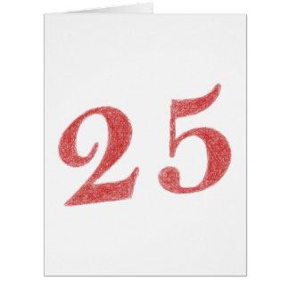 25 años de aniversario tarjeta de felicitación grande