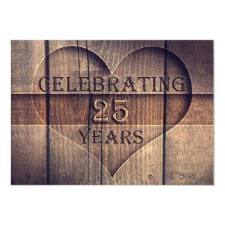 25 años de boda de invitaciones únicas del invitación 12,7 x 17,8 cm