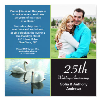 25 años de la foto de invitación del aniversario