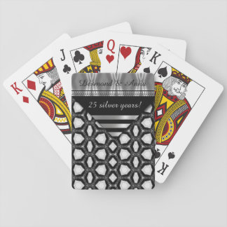 25 años de plata felices barajas de cartas