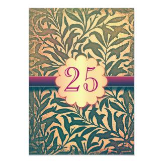 25 años del aniversario de las invitaciones de invitación 12,7 x 17,8 cm