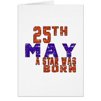 25 de mayo una estrella nació tarjeta de felicitación