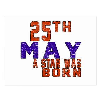 25 de mayo una estrella nació postal