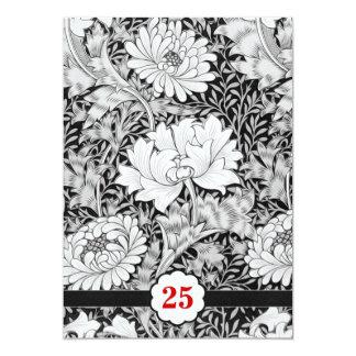 25 invitaciones blancos y negros del aniversario comunicado