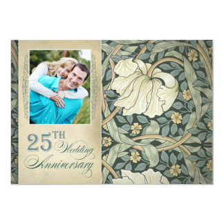 25 invitaciones de la foto del aniversario invitación 12,7 x 17,8 cm