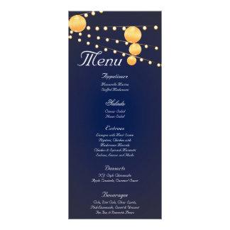 25 linternas de papel de las tarjetas del menú en  tarjetas publicitarias