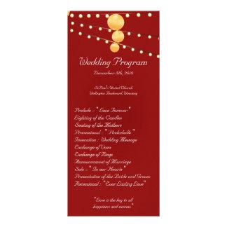 25 linternas de papel del programa del boda 4x9 en tarjetas publicitarias a todo color