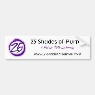 25 sombras de pegatina para el parachoques púrpura