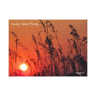 """25"""" x 18"""" belleza ahumada de la puesta del sol de lienzo"""