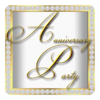 25ta fiesta de aniversario de plata elegante del invitación 13,3 cm x 13,3cm