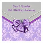 25ta fiesta de aniversario del boda de la púrpura  comunicado personalizado