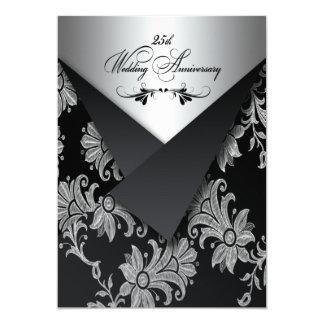 25ta invitación 2 del aniversario de boda de las