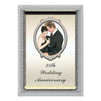 25ta invitación de la fiesta de aniversario del