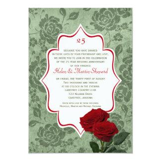 25ta invitación del aniversario de boda de los
