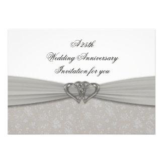 25ta invitación del aniversario de boda del