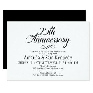 25ta invitación del aniversario de la caligrafía