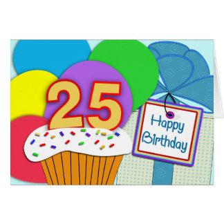 25ta tarjeta de cumpleaños feliz