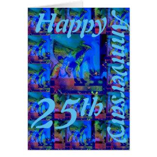 25ta tarjeta de felicitación feliz del aniversario