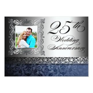 25tas invitaciones de la foto del aniversario de invitación 12,7 x 17,8 cm