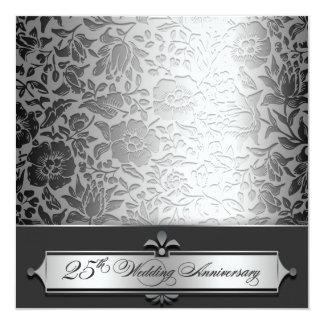 25tas invitaciones de la moda del aniversario de invitación 13,3 cm x 13,3cm