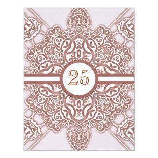 25tas invitaciones de la moda del vintage del invitación 10,8 x 13,9 cm