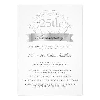 25tas invitaciones del aniversario de la bodas de invitación 12,7 x 17,8 cm