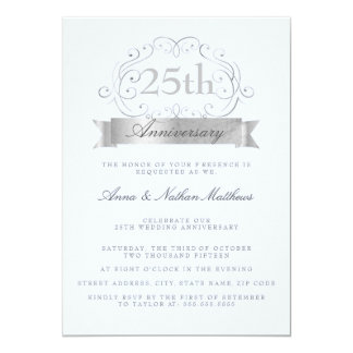 25tas invitaciones del aniversario del boda de invitación 12,7 x 17,8 cm