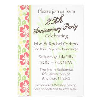 25tas invitaciones hawaianas de la fiesta de invitación 12,7 x 17,8 cm