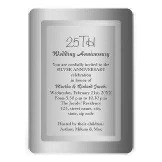 25to aniversario de boda de la frontera de plata