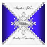25to aniversario de boda del blanco elegante del a comunicado