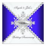 25to aniversario de boda del blanco elegante del comunicado