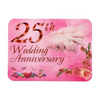 25to aniversario de boda feliz iman de vinilo