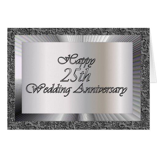 25to aniversario de boda feliz tarjeta