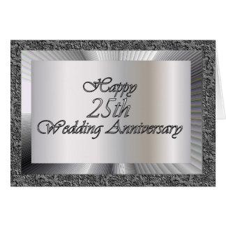 25to aniversario de boda feliz tarjeta de felicitación
