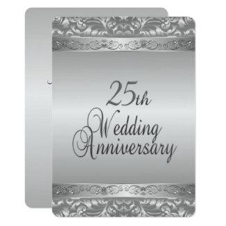 25to Aniversario de boda Invitación 12,7 X 17,8 Cm