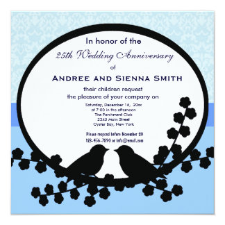 25to Aniversario de boda Invitación 13,3 Cm X 13,3cm
